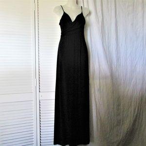 Tart black knit adjustable straps maxi dress S
